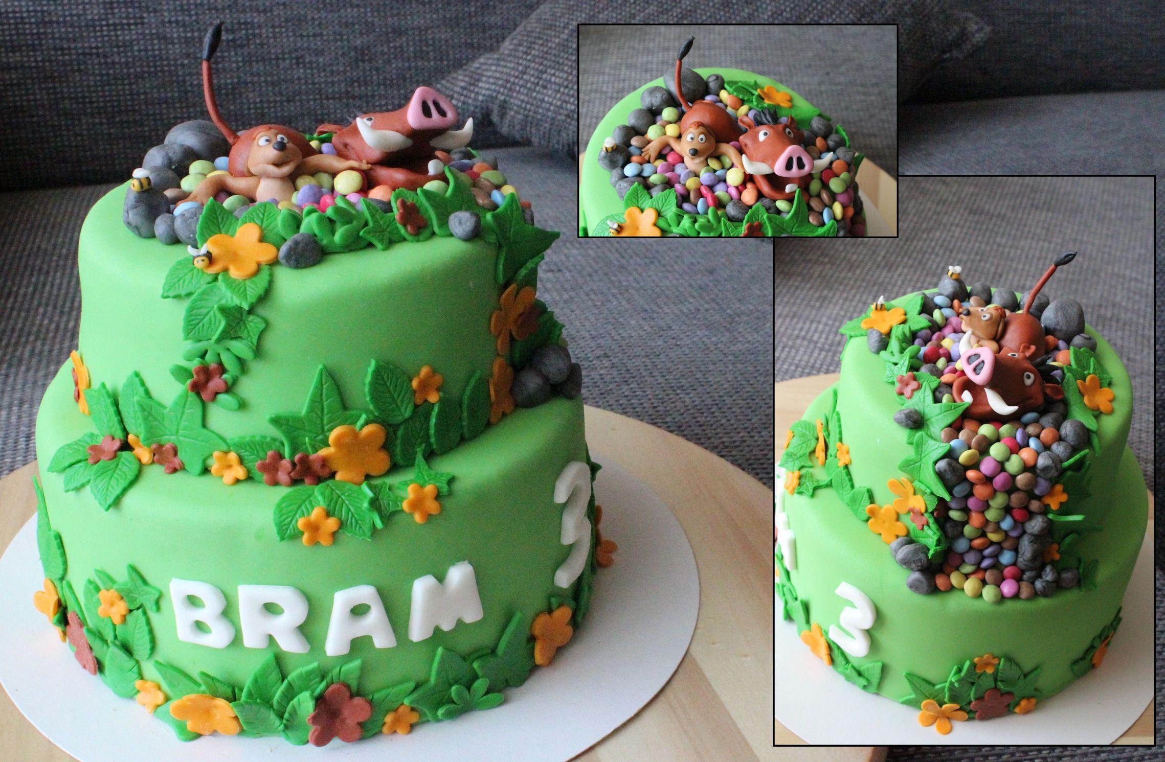 Pumba Cake: Timon En Pumba Van De Lion King.