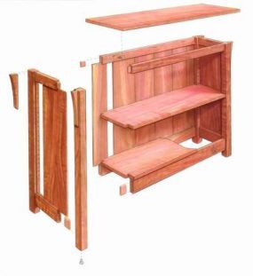 Free Plan Arts And Crafts Bookcase Fine Woodworking
