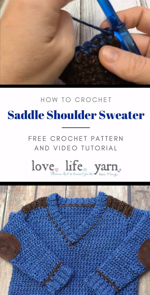 Photo of Saddle Shoulder Sweater – Free Crochet Pattern Kid's Sizes 4-12