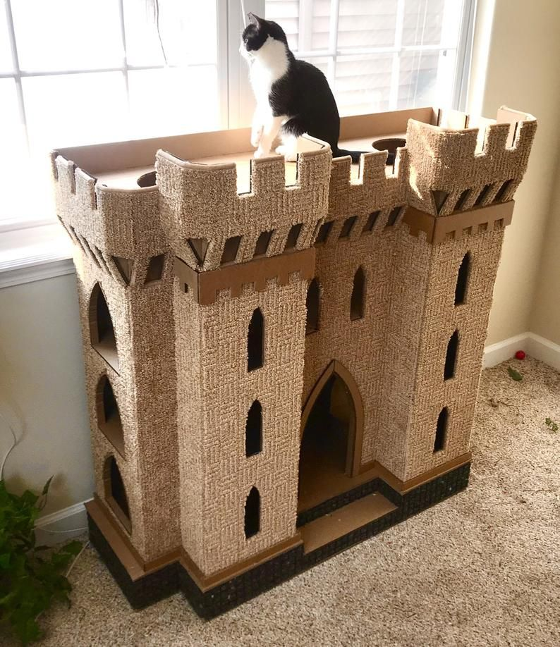 DIY Cat Castle Gothic Plans Cardboard play house Pattern files included Digital s only