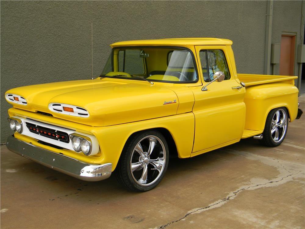 1961 Chevrolet Custom Pickup Barrett Jackson Auction Company World S Greatest Collector Car Auctions Classic Trucks Chevy Trucks Old Pickup Trucks