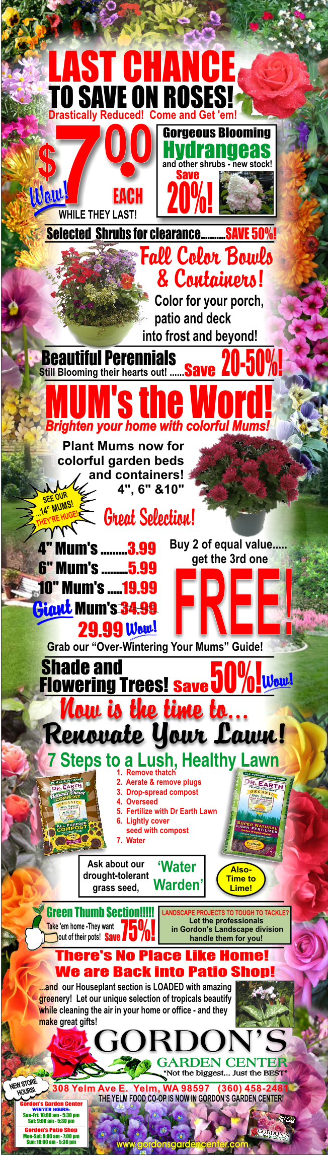 Yelm, Washington Garden Center; Organic Gardening