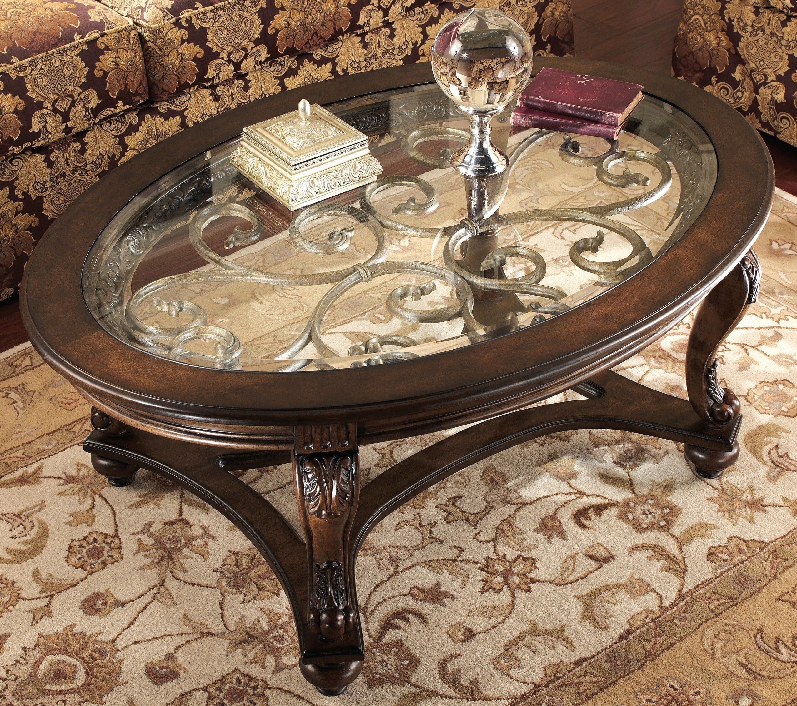 Cool Inspirational Ashley Furniture Round Coffee Table 75 With Additional Small Home Decor Inspirat Oval Wood Coffee Table Oval Coffee Tables Coffee Table Wood