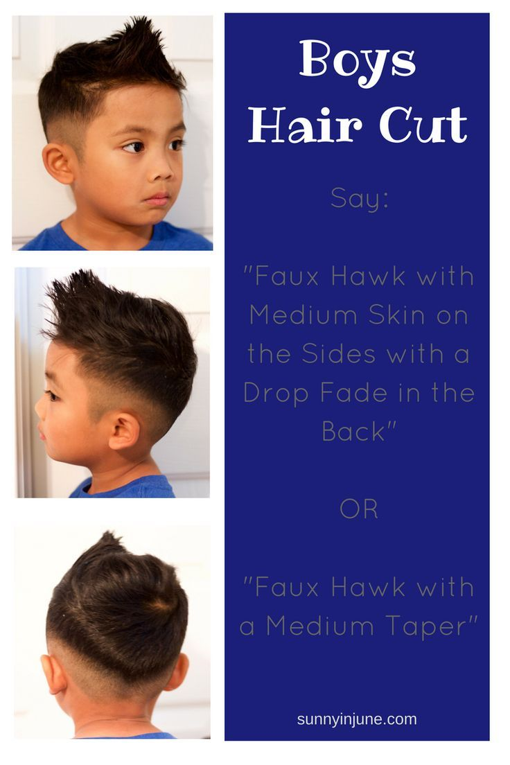 Boy hairstyle back faux hawk with a medium taper boy hairstyles  kids and family