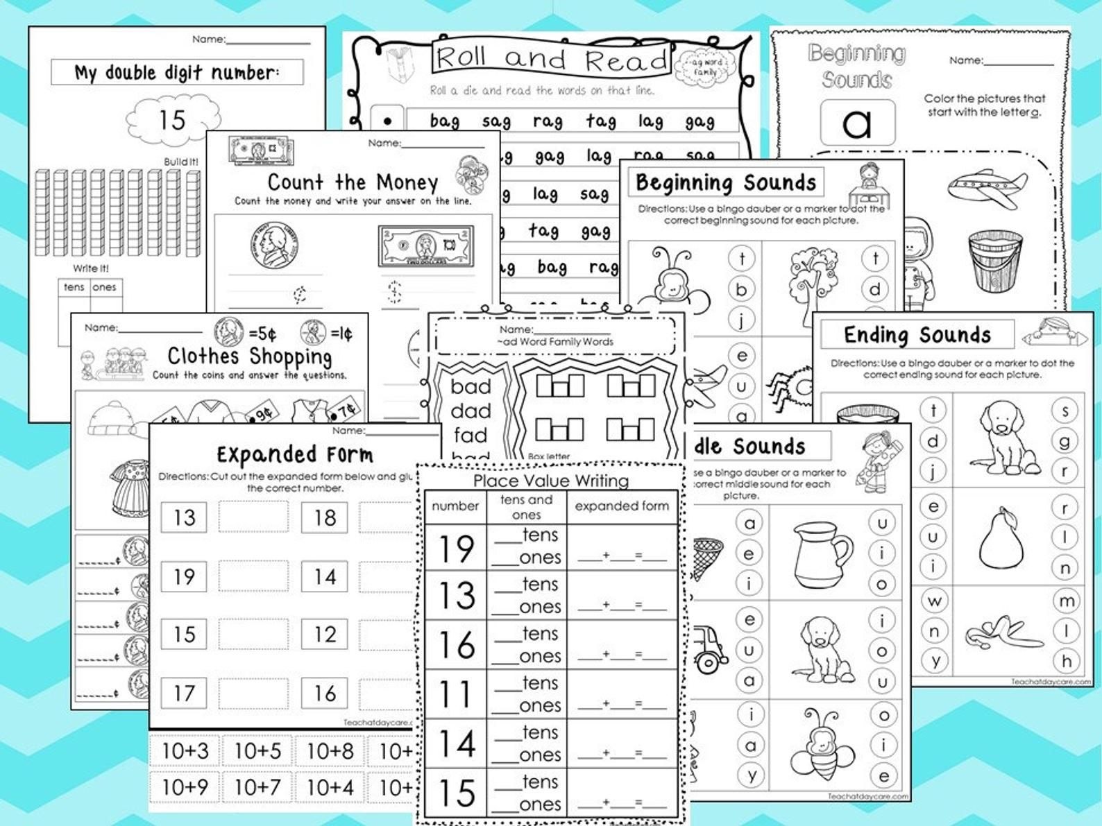 277 Math And Literacy No Prep Worksheets Download