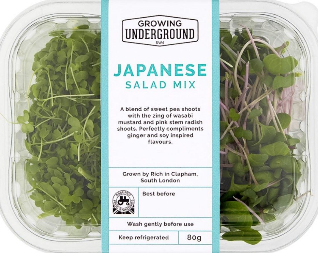 Japanese salad mix growing underground | Fresh produce