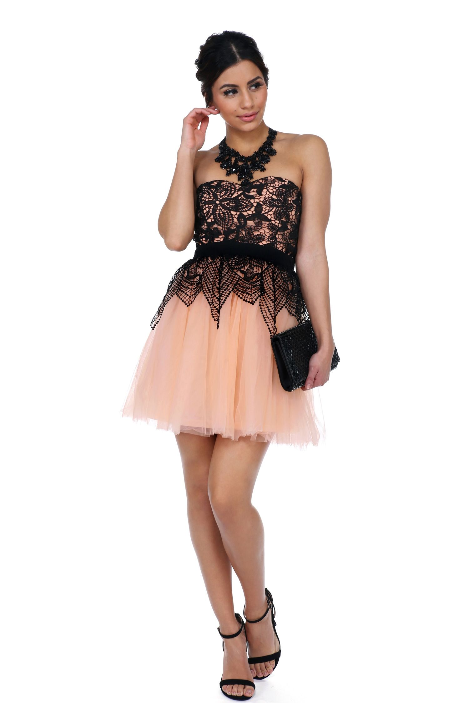 Final sale milan pink tulle prom dress tulle prom dress pink