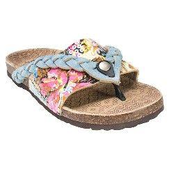 Women's MUK LUKS® Ann Flip Flop Sandals - Light Blue 9