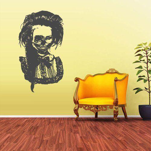 Wall Vinyl Sticker Decals Decor Art Bedroom Design Mural Zomby Skull Girl Horror Girl Halloween (Z1941) StickersForLife http://www.amazon.com/dp/B00FPC91V2/ref=cm_sw_r_pi_dp_L8qfvb0T8E5P0