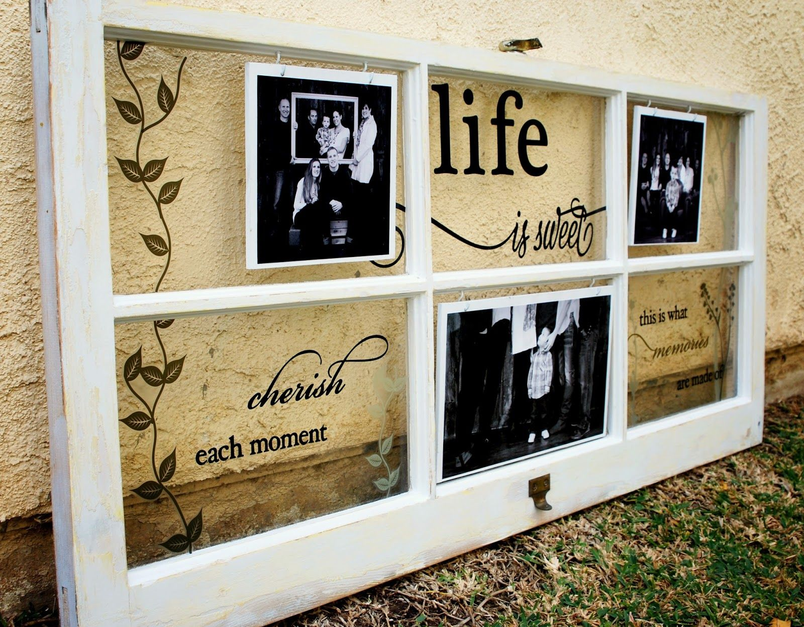 Jeri Vann My Creative Mind Reclaimed Window Family Frame Using