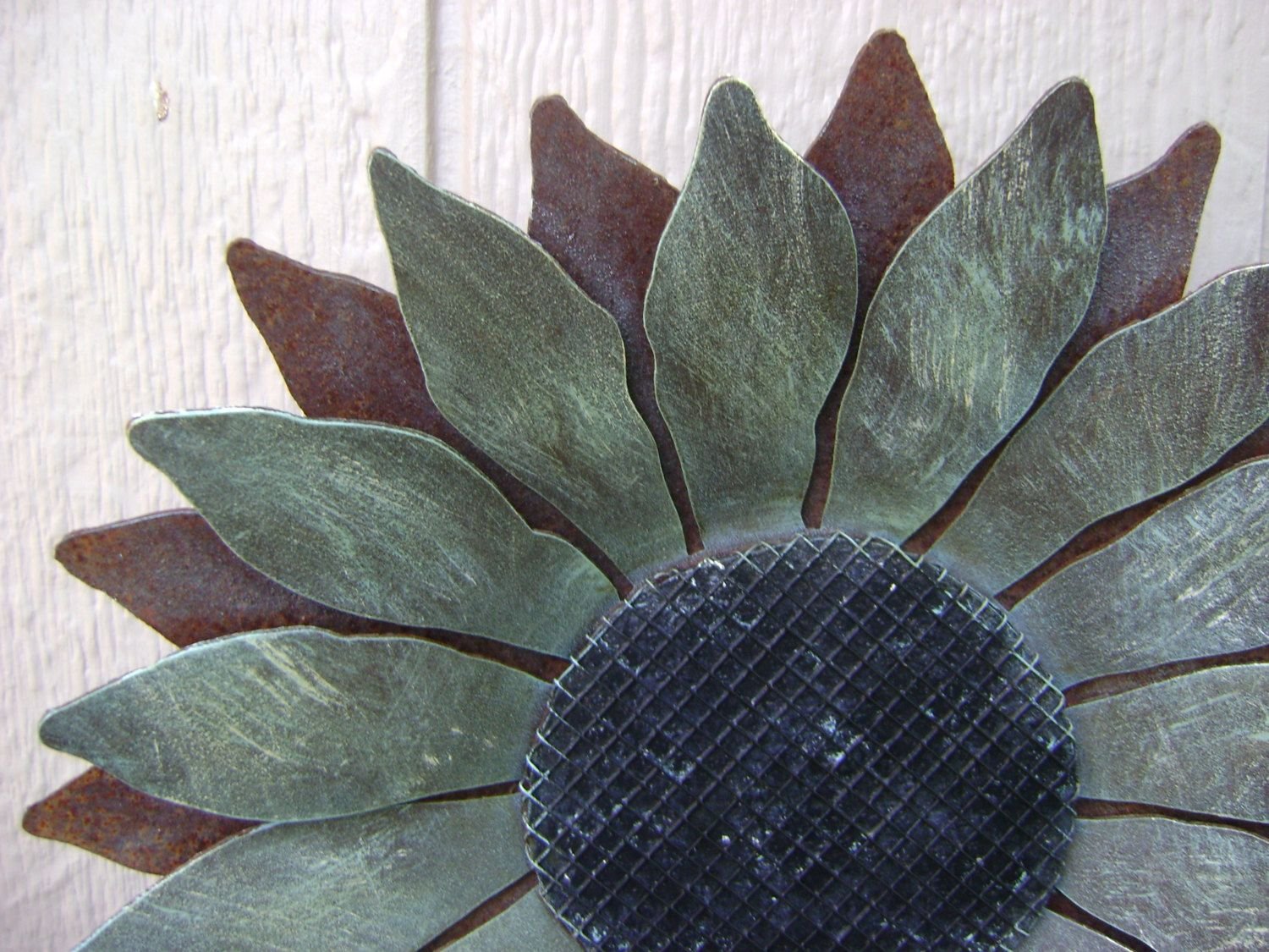 Metal Flower Wall Hanging Sunflower Metal Garden Art Rusty Metal Sunflower Wall Art