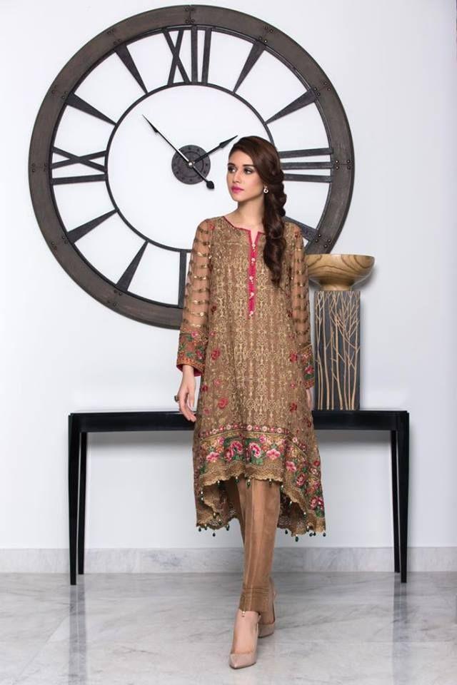 ea6bac0148 Baroque Luxury Embroidered Chiffon Collection For Eid-Ul-Zuha ...