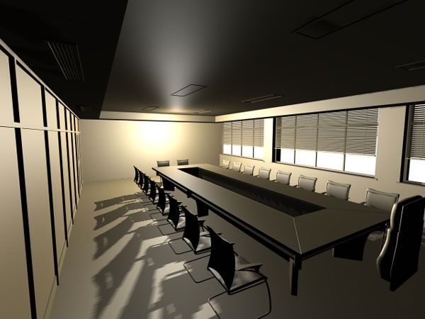 Office conference room 3ds 3d studio max light for Free 3d office design software