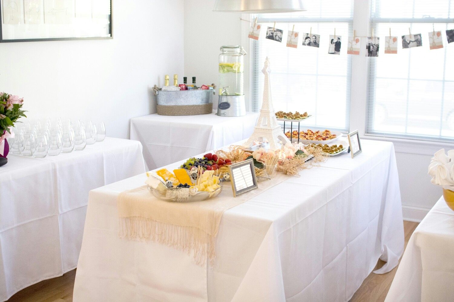 At Home Paris Themed Bridal Shower | Light Pink and White | New ...