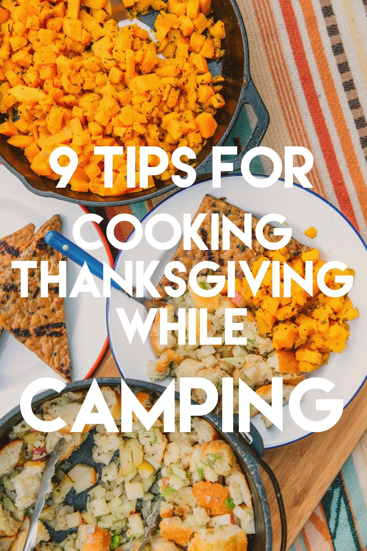 9 Tips For Cooking Thanksgiving While Camping MealsCamping RecipesCamping HacksCamping