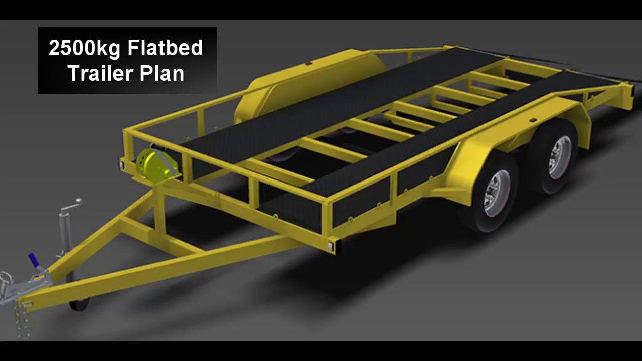 TRAILER PLANS 2500kg Flatbed Trailer Plan Trailer
