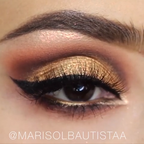 Photo of UTROLIG ØYMAKEUP GULL & BROWN TUTORIAL #makeuplook #makeuptutorial #gold