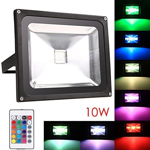 Homdox rgb led flood light remote control colour changing security 949 50 off on loothoot homdox rgb led flood light remote control colour changing security lights 6 colors 4 modes 10w spotlight waterproof aloadofball Image collections