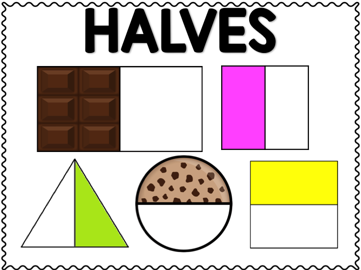 halves fourths and eighths posters free step into 2nd grade