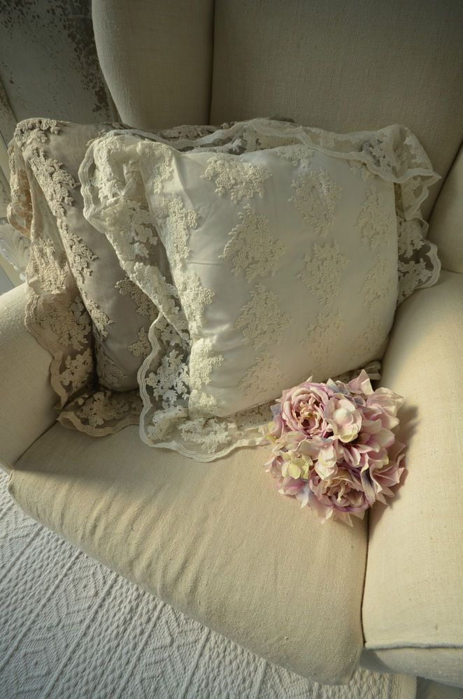 details zu julia off white kissenh lle shabby kissen bezug. Black Bedroom Furniture Sets. Home Design Ideas
