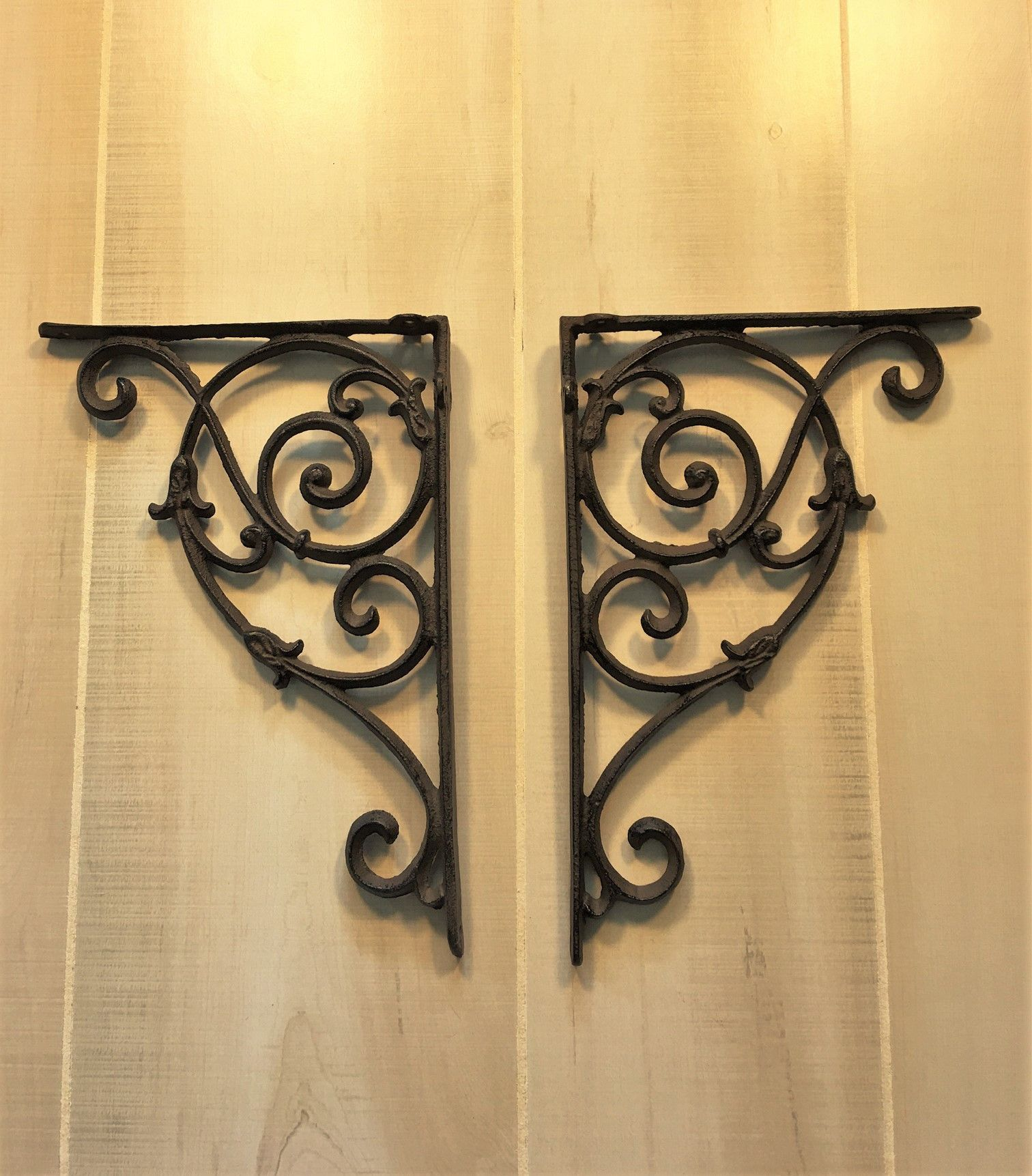 Large decorative wrought iron book shelf brackets shelf brackets