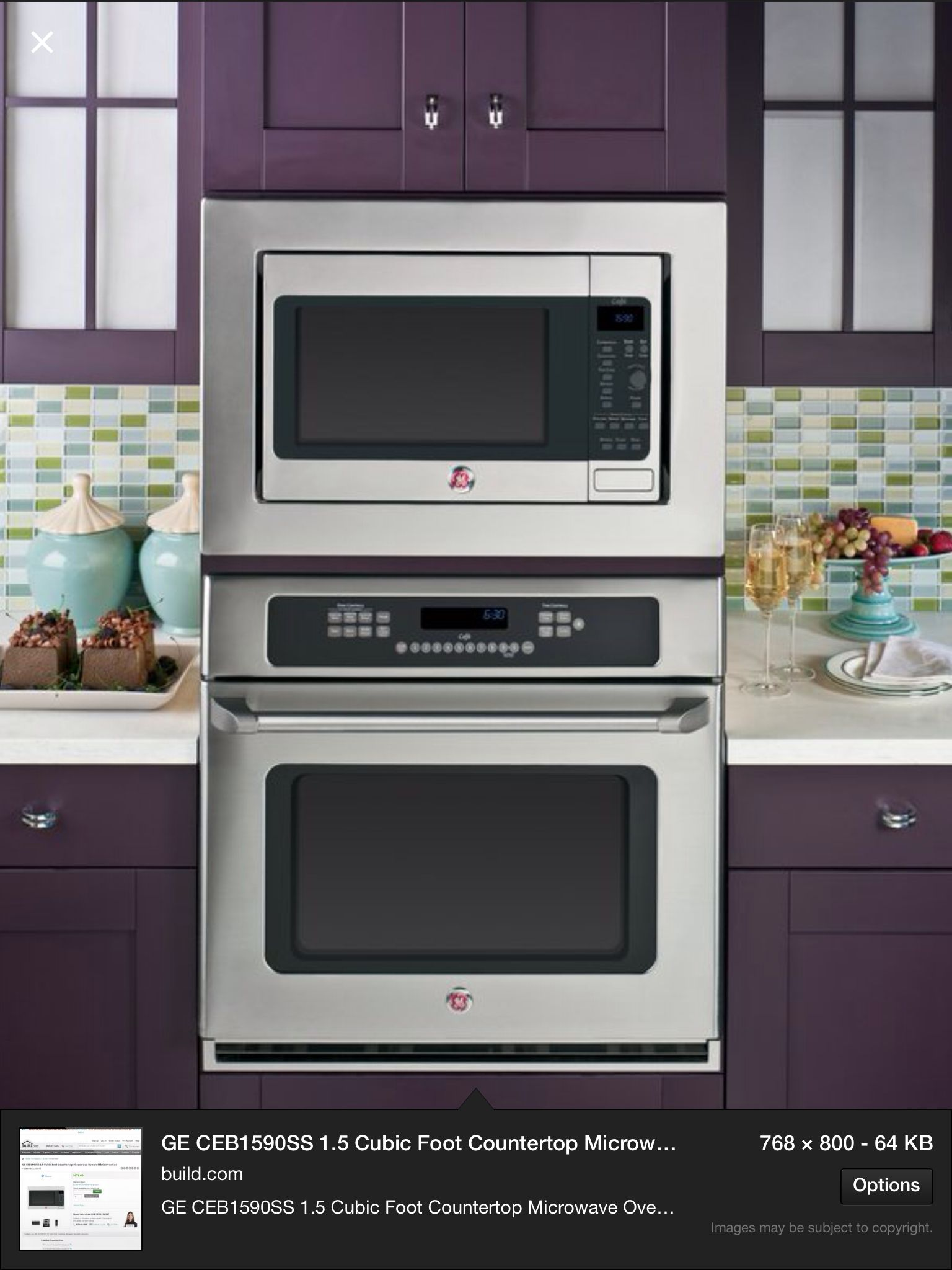 Convection oven and convection microwave oven combination
