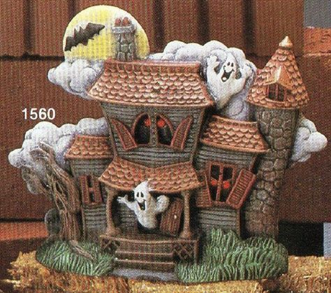 Spooky Halloween Haunted House Ready To Paint Ceramic Bisque Unpainted Ceramic Bisque Paint Your Own Pottery U Paint Ceramic Bisque Ready To Paint Ceramics Halloween Haunted Houses Paint Your Own Pottery