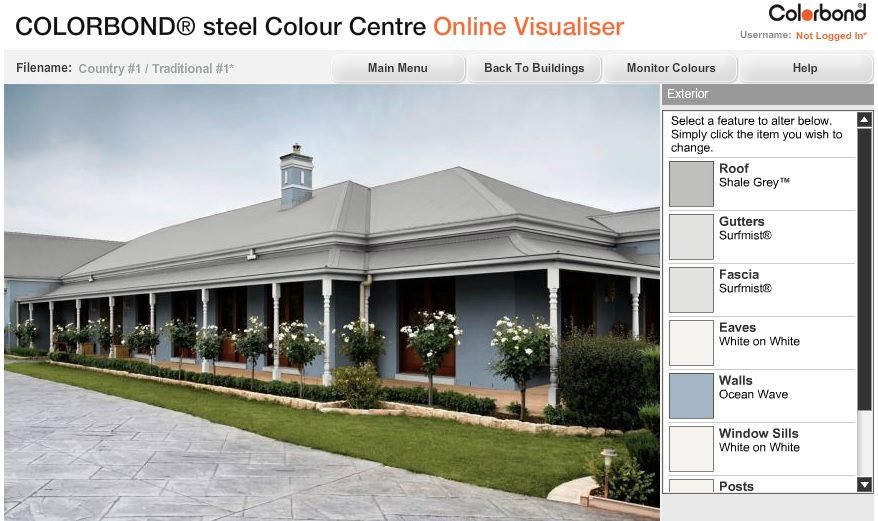Colorbond Shale Grey Roof Colour To Go With Our Blue Cladding And White Trim House Colour