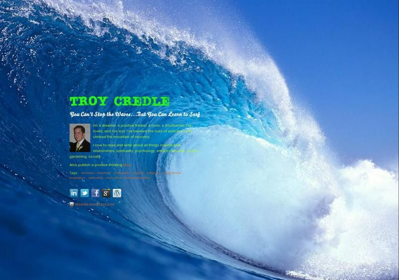 Check out my about.me page!  about.me/troycredle