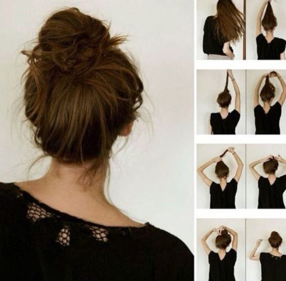 Messy Bun Great For Lazy Days Hair Styles Long Hair Styles Hair Beauty