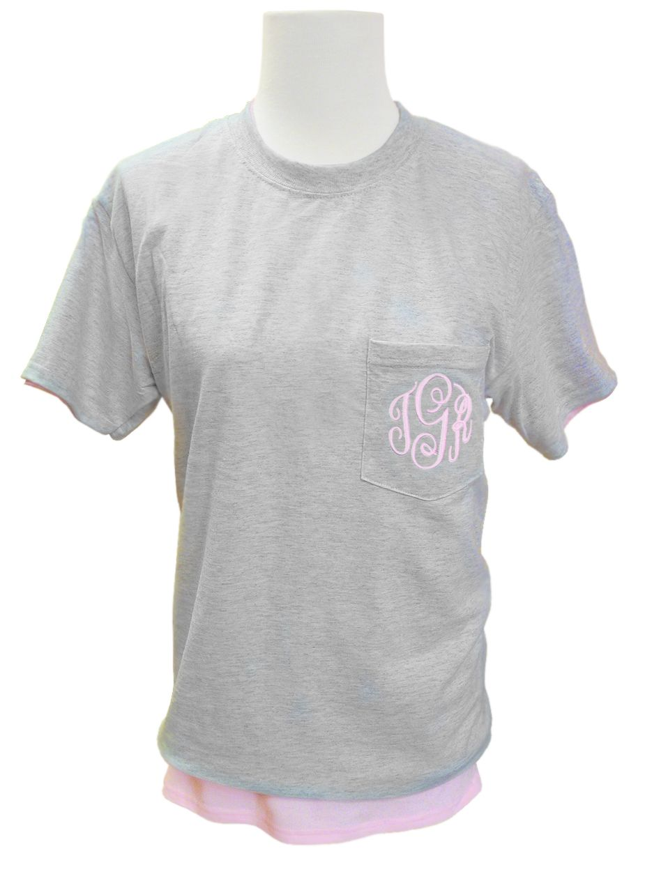 Monogrammed Pocket Tshirt Design Your Own Pocket Tee With Us