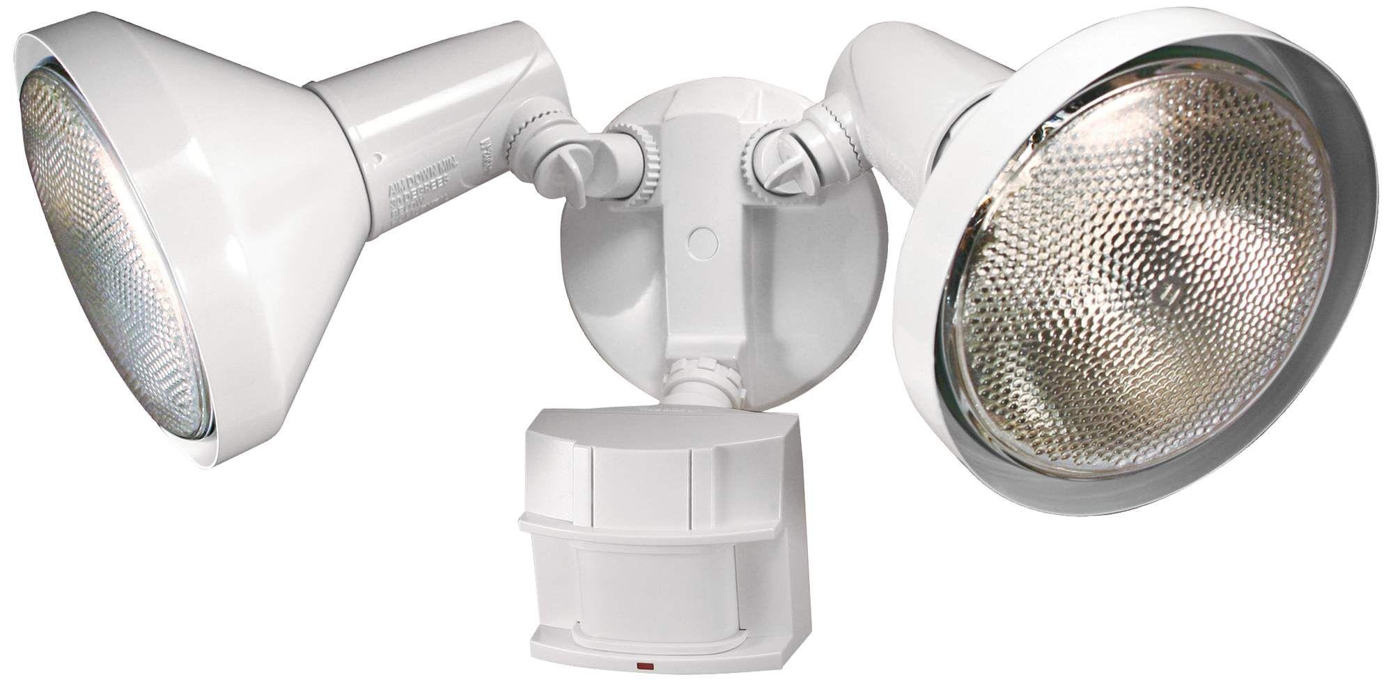 Two Light White 180 Degree Motion Sensor Security Light