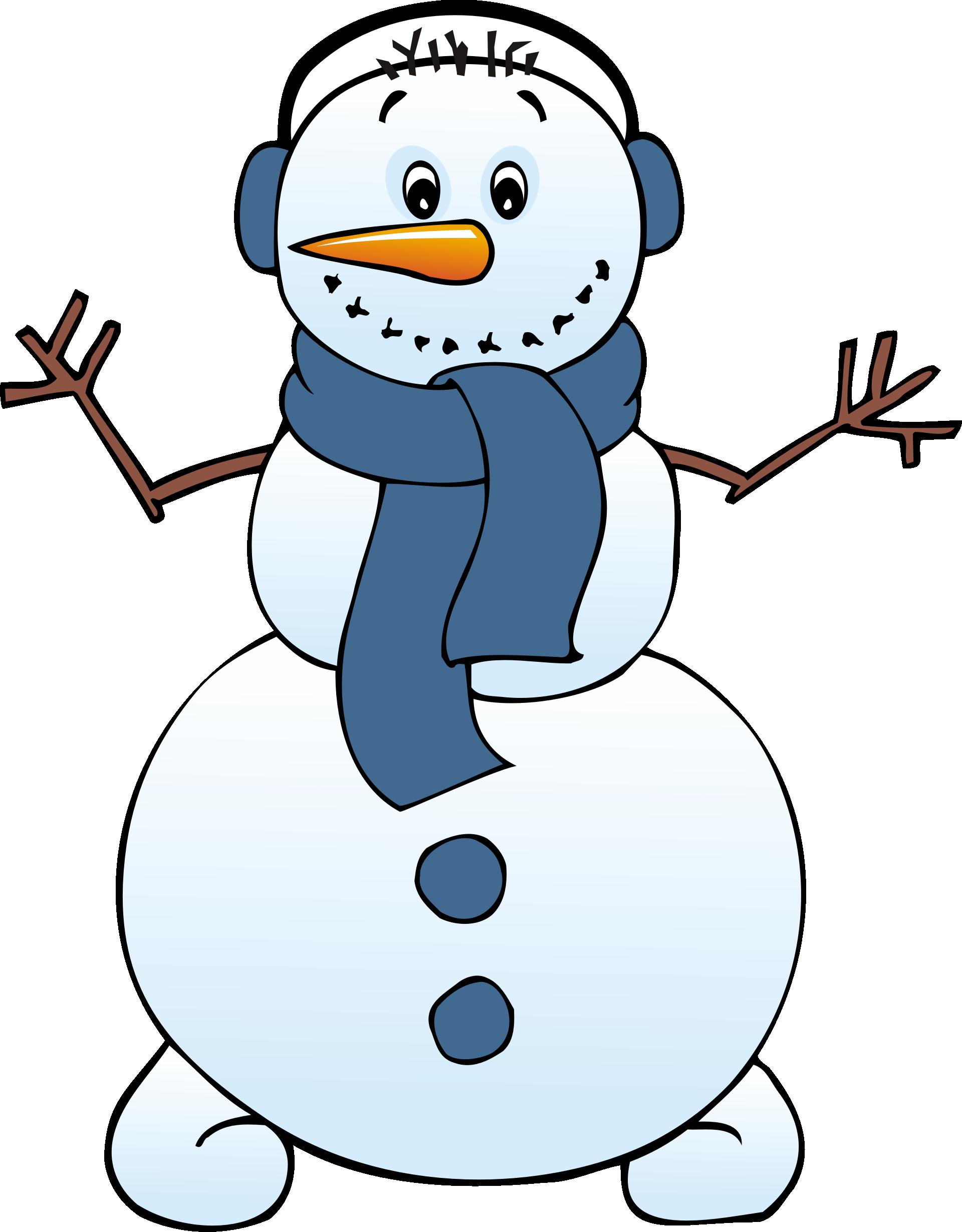 cute snowman clip art free