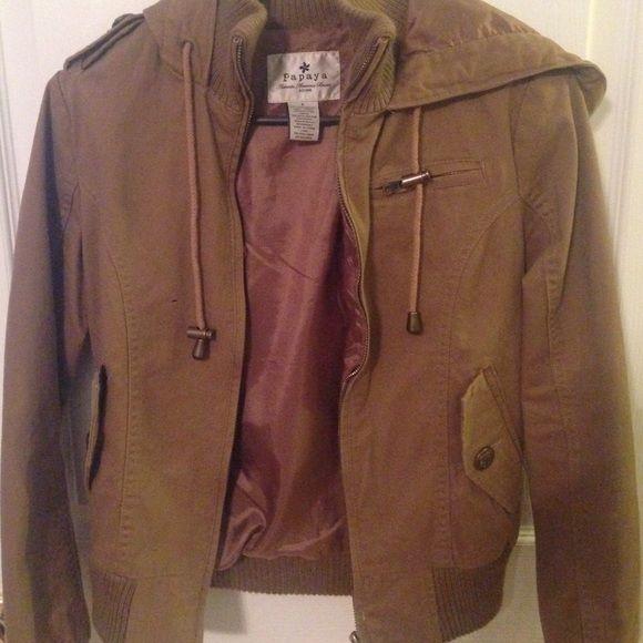 Jacket Warm brown jacket Papaya Jackets & Coats Utility Jackets