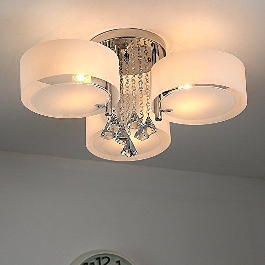 Natsen® LED Kristall Deckenleuchte Deckenlampe Designer Wohnzimmer - deckenleuchte led wohnzimmer