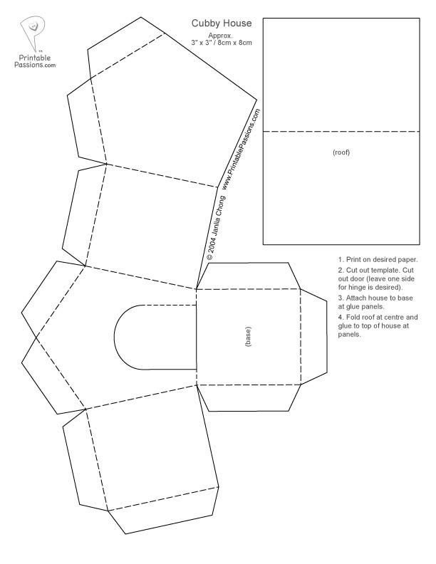 Teaching Bible Verse To Kids The Story Of Wise And Foolish Builders Matthew 7 24 27 Paper House Template Paper Houses House Template