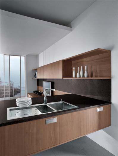 linea quattro - cuisine en bois plaqué | Kitchens | Kitchen, Cuisine