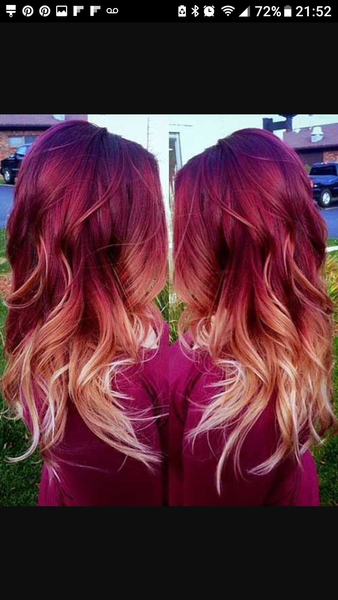 Absolutely Living for this red-ombre color | Hair Ideas | Pinterest ...