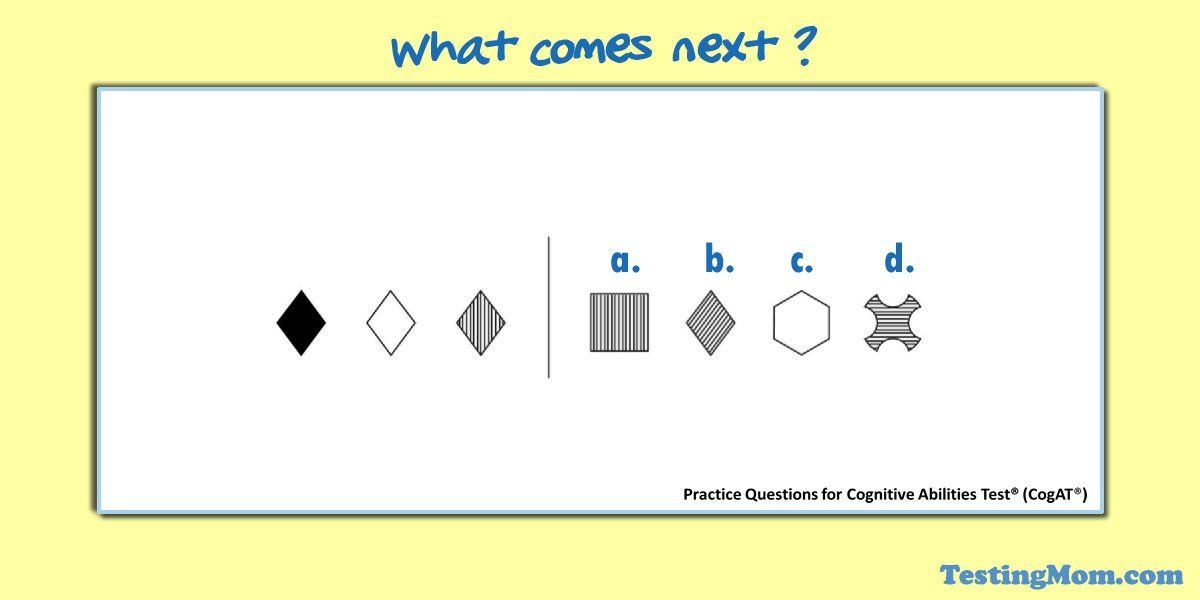 Here S A 3rd Grade Non Verbal Figure Classification Q Can Your Child Solve It Cogat Cogat Testing Gifts Cogat Practice