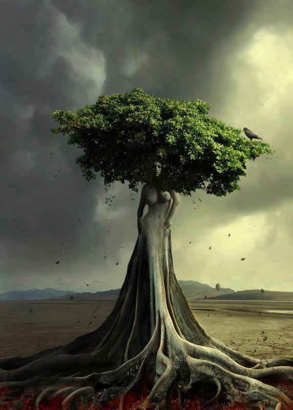 AstroSpirit Tree of Life Art / mother earth goddess