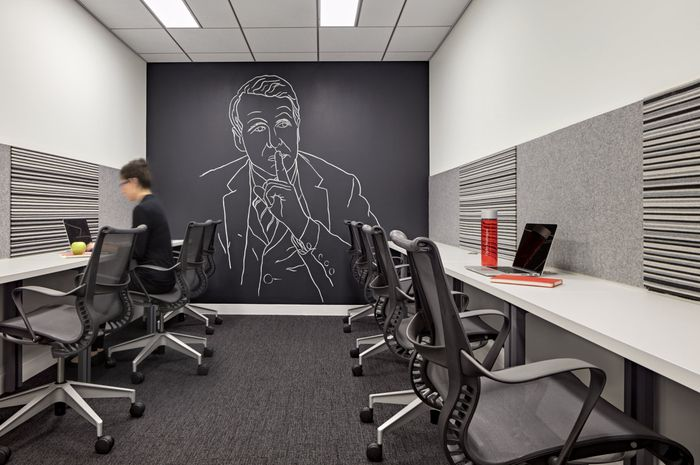 HOK has developed the new offices of international advertising firm - innovatives interieur design microsoft