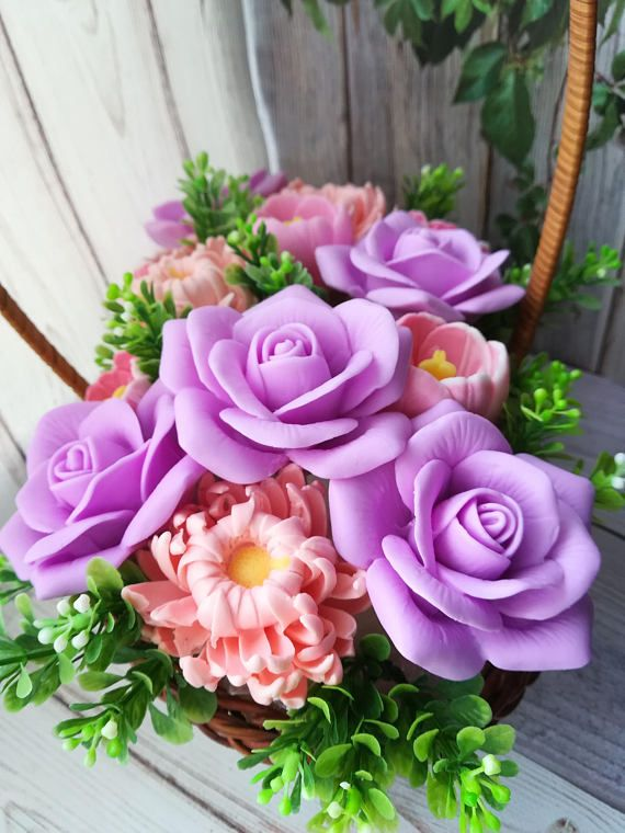 Soap Bouquet Anniversary Gift for Her Flower Bouquet with | my soaps ...