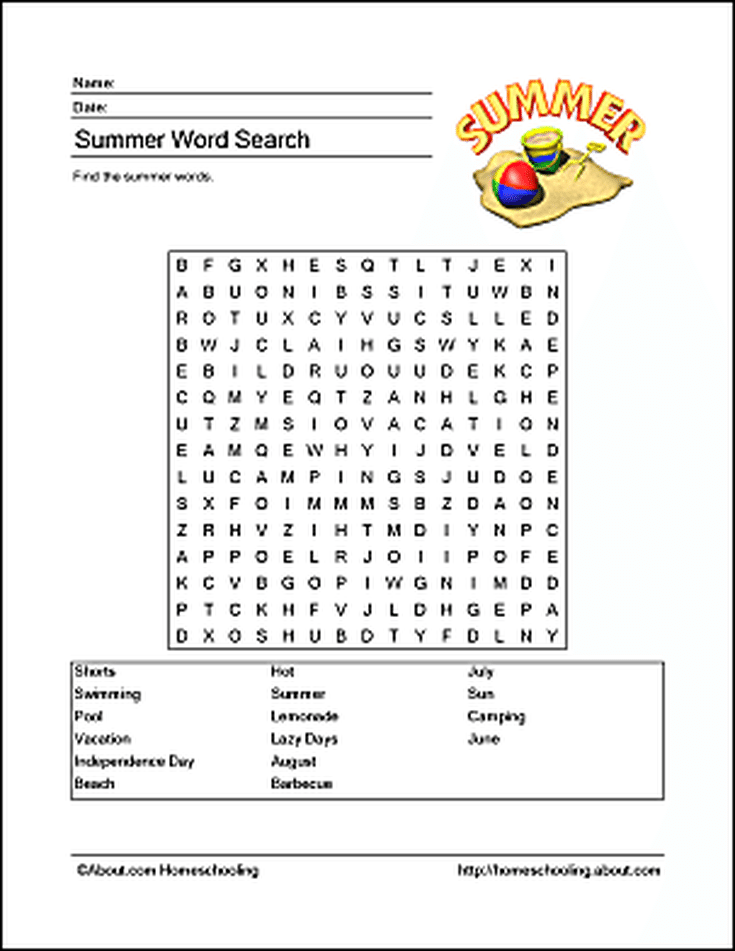 Free Summer Printables For A Travel Or Rainy Day Activity Esl