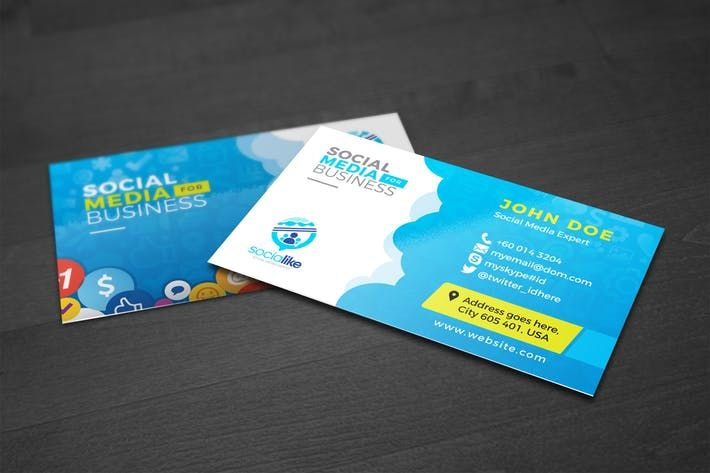 Social media business card by graphicartist art design inspiration social media business card by graphicartist accmission Image collections