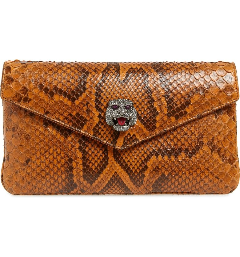 6dce28fc96cf Broadway Genuine Python Envelope Clutch   Gucci Bags   Envelope ...