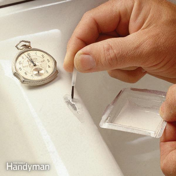 How To Fix A Chipped Sink Sink Repair Diy Home Repair Home Repair