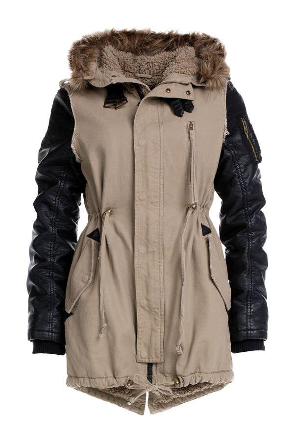 Genial mantel mit lederärmeln   Mode Saison   Pinterest   Mantel ... c56f654b45
