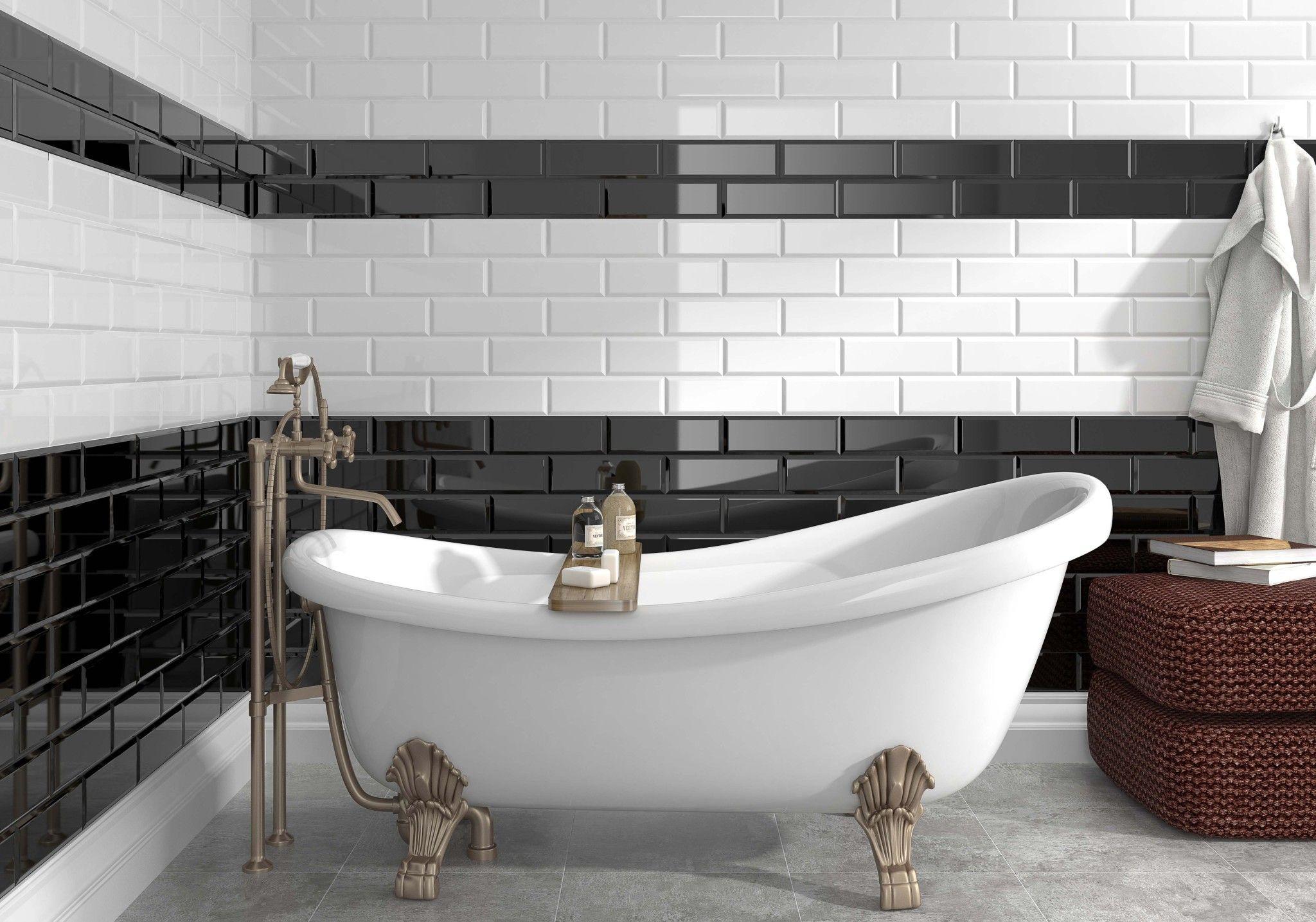 Zwart Wit Tegels : Tijdloze zwart wit tegels zijn een blijver badkamer