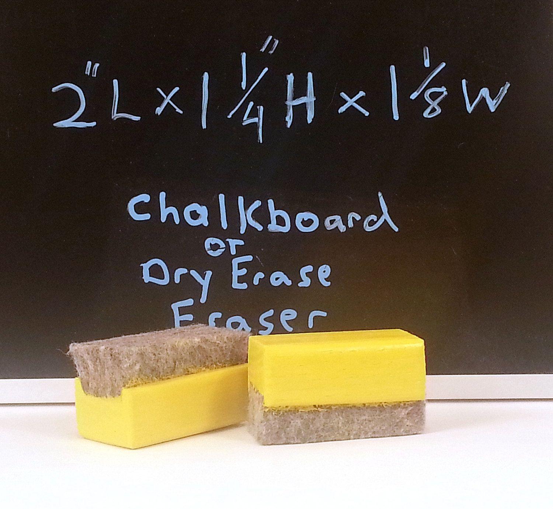 Yellow Mini Chalkboard Or Dry Erase Eraser Handmade Fi0190 Etsy Mini Chalkboards Chalkboard Crafts Dry Erase