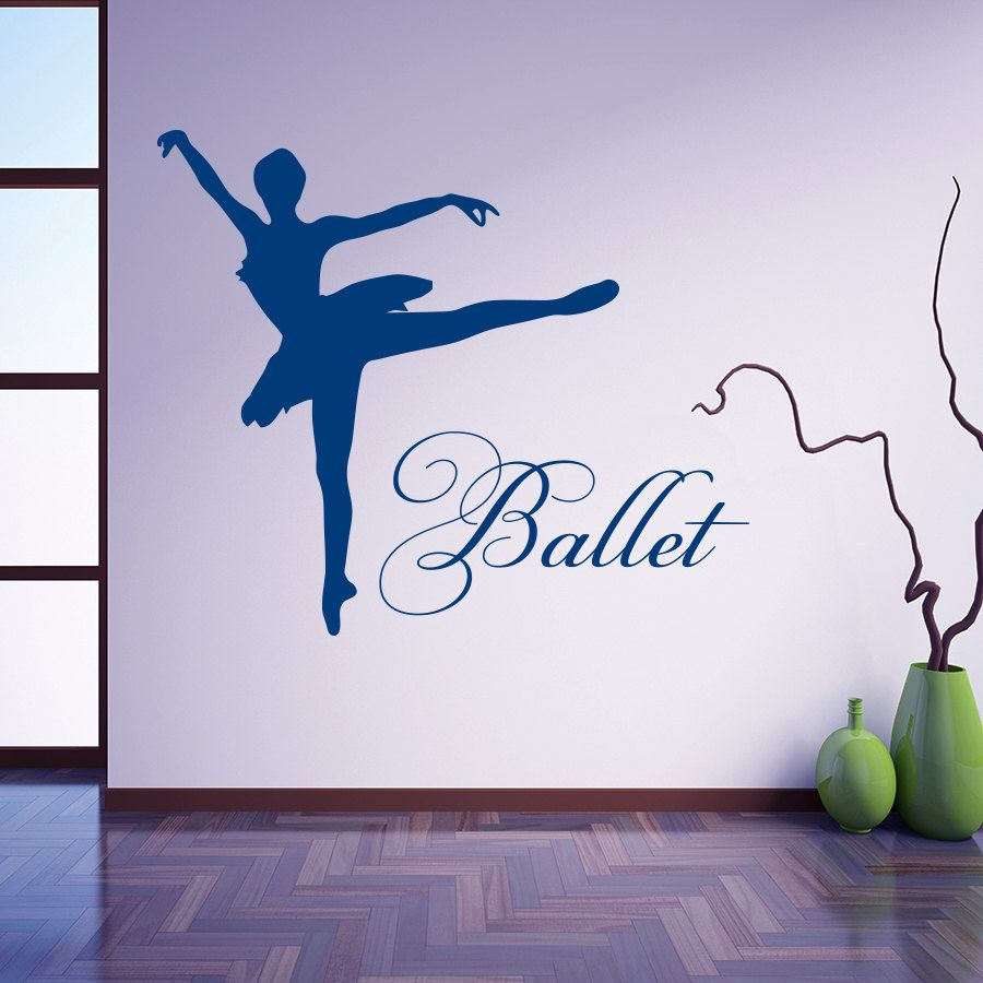 Vinyl sticker ballet dancer dancing ballerina wall decal for vinyl sticker ballet dancer dancing ballerina wall decal for school baby room home decor bedroom art amipublicfo Gallery